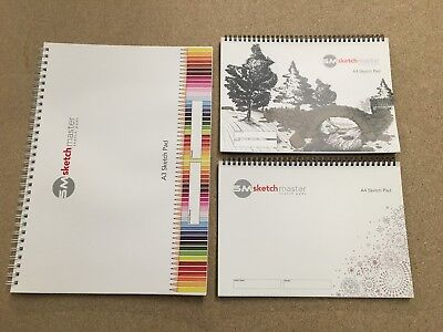 Artist Sketch Pads A3 And A4. Wholesale Job Lot (40 Sheets Of 100gsm) 435 Total • 400£
