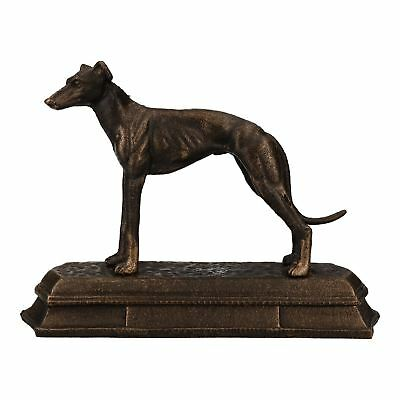 Greyhound Whippet Dog Cast Iron Statue Figure Trophy Fireplace Ornament • 19.75£