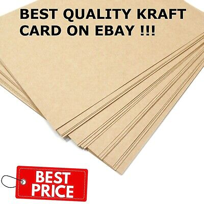£3.59 • Buy A3 A4 A5 Brown Kraft Card Thick Paper Cardboard Printer Sheet Gift Tag Bag Label