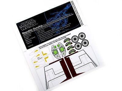 STICKERS For STAR WARS, LEGO 75021 Republic Gunship Bonus Plaque Sticker +Extras • 4.52£