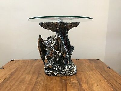 2pc Super Cool Stylish Dragon Glass Table, Detailed Chinese Dragon Table Art • 180£