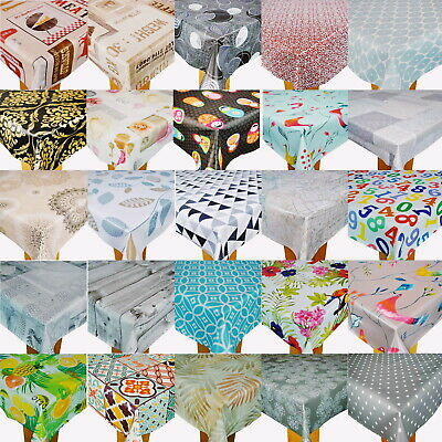 Wipe Clean Tablecloth Cover Vinyl PVC Best New Wipeable Designs 140 X 200cm • 12.97£