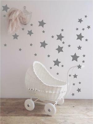 Various Size Stars Wall Stickers Kid Decal Art Nursery Bedroom Vinyl Decoration • 2.79£