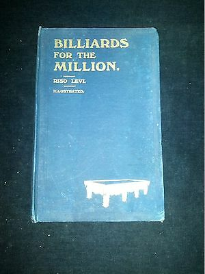 £34.99 • Buy Billiards For The Million Riso Levi Illustrated Fifth Thousand Undated Hardback