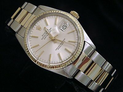$ CDN6280.58 • Buy Rolex Datejust Mens 2Tone Stainless Steel & Yellow Gold Watch Silver Dial 16013