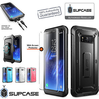AU47.24 • Buy Samsung Galaxy S8 Case Rugged Holster Tempered Glass Screen Protector SUPCASE