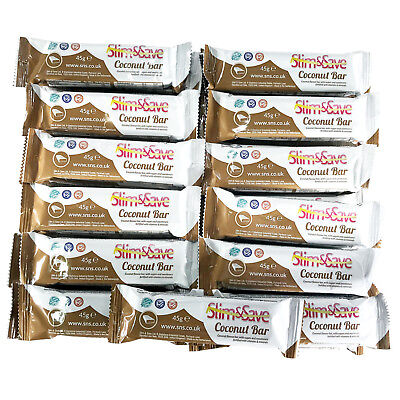 £32.99 • Buy 25 Milk Chocolate Coconut LowCarb HighProtein MRP VLCD Diet Bars Slim &And Save