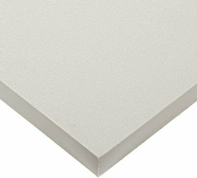 "$14.10 • Buy White Marine Board HDPE Polyethylene Plastic Sheet 1/2"" - 0.500  Thick Textured"