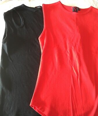 Spiral Clothing , Gothic Top, Sleeveless, Punk, Black, Red • 10£