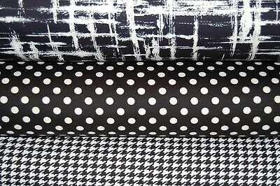 Patterned Ponte Roma Double Knit Stretch Jersey Fabric By The 1/2M 150cm W • 3.75£