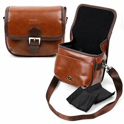 Small Brown PU Leather Bag For KIPTOP Wide-Angle Underwater Waterproof Camera • 19.99£