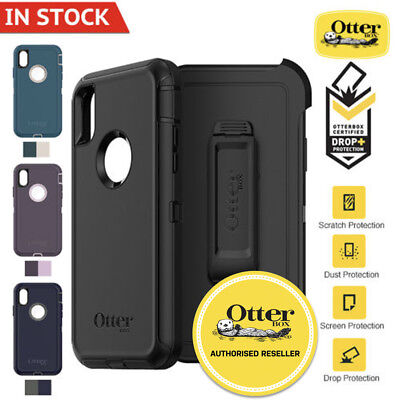 AU69.95 • Buy For Apple IPhone X XS Max XR SE 8 7 6 6S Case Genuine Otterbox Defender Cover