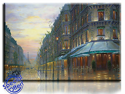 £20.99 • Buy Wall Art Canvas Picture Print Of Cafe De Paris  Framed   Ready To Hang