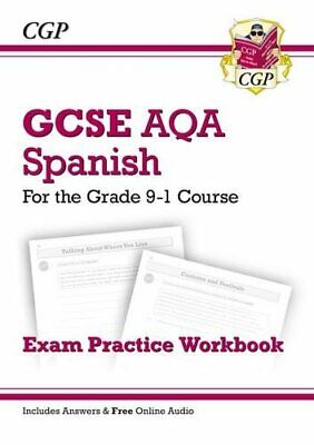 £3.59 • Buy GCSE Spanish AQA Exam Practice Workbook - For The Grade 9-1 Cour... By CGP Books