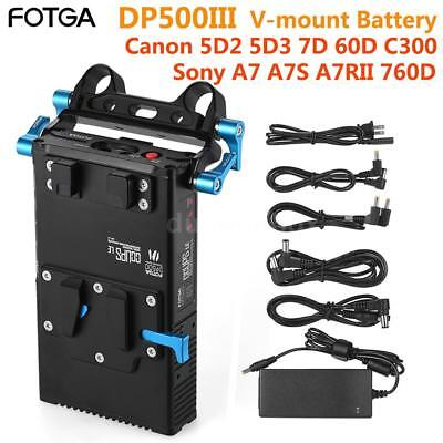 AU208.04 • Buy FOTGA V-Mount Lock Camera Battery Power Supply Plate 15mm Rod For Canon Nikon