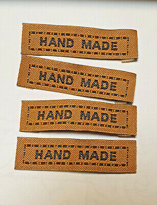 Sew In Woven Labels 'Hand Made' Clothing Knitting Pack Of 10 - Various Colors  • 1.89£