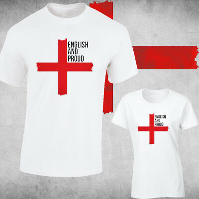 £5.99 • Buy St George's Day Red Cross Mens, Ladies Fit , England Flag  ENGLISH AND PROUD.