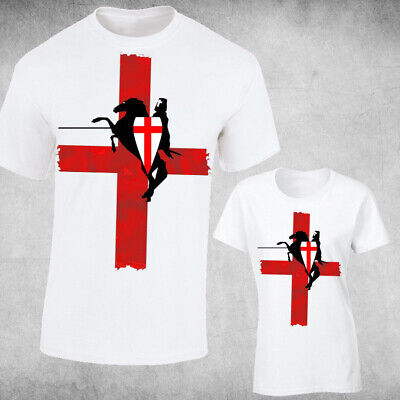 £5.99 • Buy St George's Day Red Cross Mens, Ladies Fit , England Flag  ENGLISH Football