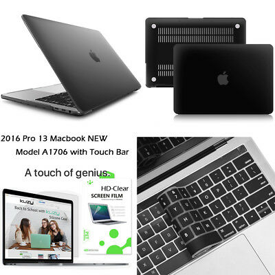 $19.94 • Buy Rubberize Matte Case+Keyboard Cover+LCD Screen For Macbook Pro 13 15 W/Touch Bar
