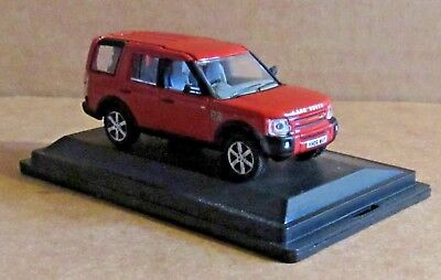 Oxford Diecast Land Rover Discovery 3 Rimini Red Metallic 1:76 Scale Model Car • 7.30£