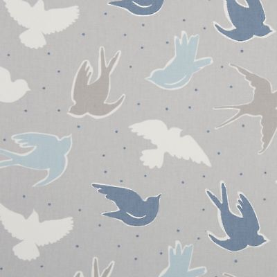 Clarke And Clarke Seabirds Grey Mist Cotton PVC WIPE CLEAN Tablecloth Oilcloth • 6.99£