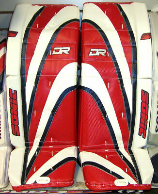 $299.98 • Buy New DR Sonic X9 Sr Ice Hockey Goal Leg Goalie Pads 32  Red/Blue, 33  Black/White