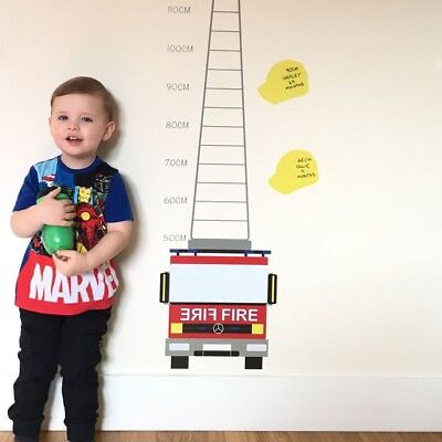 £19.99 • Buy Fire Engine Printed Height Chart Wall Sticker