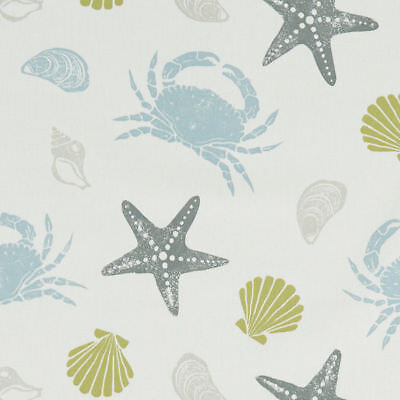 Clarke And Clarke Offshore Mineral Cotton PVC WIPE CLEAN Tablecloth Oilcloth • 10.29£