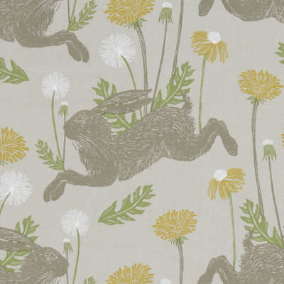 Clarke And Clarke March Hare Linen Cotton PVC WIPE CLEAN Tablecloth Oilcloth • 6.99£