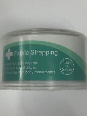 Safe + Sound Health Fabric Strapping 1.5m X 2.5cm - 1 Roll • 5.21£
