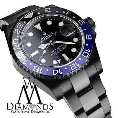 $ CDN31763.72 • Buy Rolex GMT Master II Batman Black Dial & Black And Blue Bezel Stainless Steel