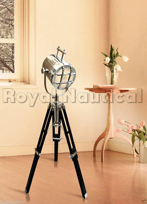 £69.99 • Buy Nautical Spot Light 30 Inch Floor/Table Lamp Wooden Tripod  Search LED Lighting