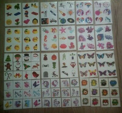 12 Temporary Tattoos*kids*emoji*unicorn Rainbow*elf*xmas*brickz*animals*fairy* • 0.99£