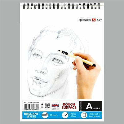 Sketch Pad Rough White Drawing Artist Paper On SPIRAL Book 50 Sheets • 7.99£