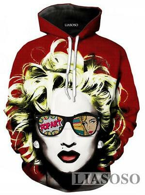 $ CDN31.05 • Buy New Fashion Women/Men Singer Madonna 3D Print Casual Hoodie Sweatshirt R81