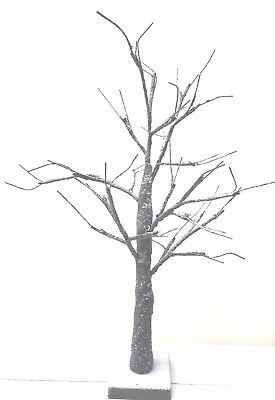 Easter ,Christmas. Wedding LED Twig Table Top Snowy Tree 60cm Battery Operated • 9.99£