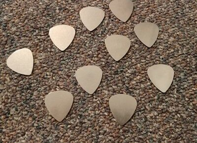 $ CDN10.69 • Buy Stainless Steel Guitar Picks Lot Of 10 .30 Mm Thin Electric Free Tracking New!