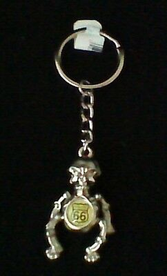 Route 66 Moving Parts Skeleton Keychain • 2.96£