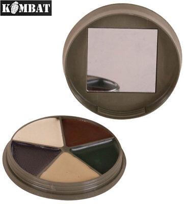 Army Combat Military 5 Colour Camo Cream Face Paint Sniper Camouflage Army Set • 7.99£