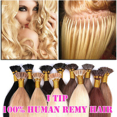 $28.52 • Buy CLEARANCE I Tip Stick Pre-bonded Keratin Glossy Human Remy Hair Extensions P184
