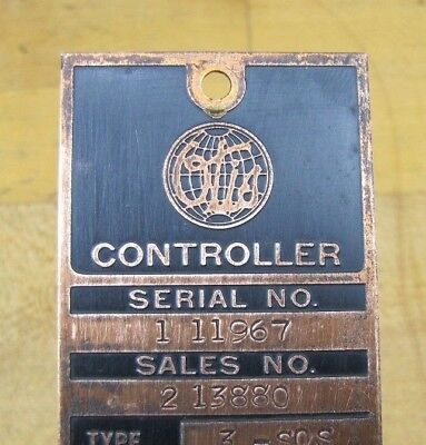 $195 • Buy Old OTIS Elevator Sign Copper Controller Tag Architectural Equipment Nameplate