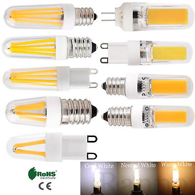 AU3.05 • Buy E12 E14 G9 G4 Dimmable LED COB Filament Corn Light Bulbs Silicone Crystal Lamp