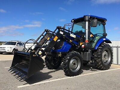 AU32990 • Buy TRIDENT 75HP Tractor With 4in1 Bucket