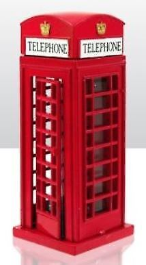 Die Cast Metal Telephone Box Gift London Souvenir Red Iconic Travel Journey • 5.71£