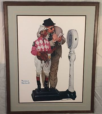 $ CDN2488.01 • Buy Vintage Framed Norman Rockwell  Weighing In  Hand SIGNED Print Black Ink Auto