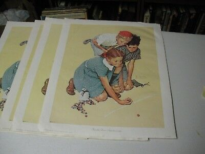 $ CDN25.04 • Buy Norman Rockwell Print Knuckles Down September 2, 1939 On Canvass  11  X 14  1972