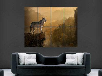 £17.99 • Buy Wolf Wild Animal Poster Giant Wall Forest  Art Picture Print Large Huge