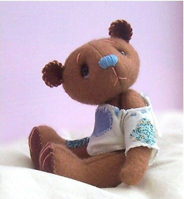 Toffee Soft Toy Felt Teddy Bear Sewing Kit.  Kit Makes 6 Inches Tall  Ted (15cm) • 10.99£