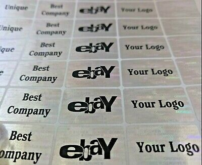 £2.99 • Buy Personalized Customized Hologram Labels Sticker Void If Removed Tamper Proof