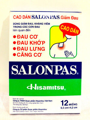AU14.99 • Buy 12-120 SALONPAS Pain Relieving Arthritis Muscle Pain Relief SUPER FAST SHIP